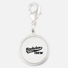 Bachelor Party Crew Silver Round Charm