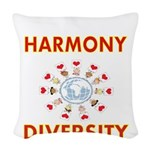 Harmony and Diversity Woven Throw Pillow