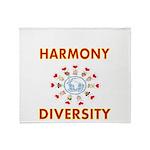 Harmony and Diversity Throw Blanket