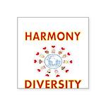 Harmony and Diversity Sticker