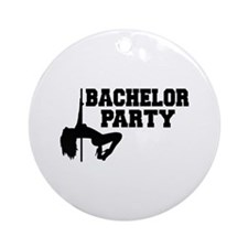 Bachelor Party girl Ornament (Round)
