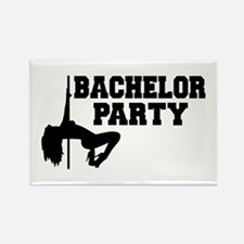 Bachelor Party girl Rectangle Magnet