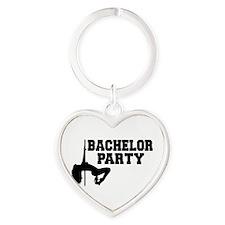Bachelor Party girl Heart Keychain
