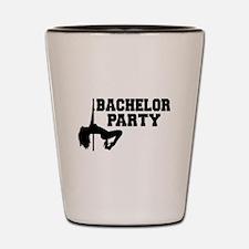 Bachelor Party girl Shot Glass