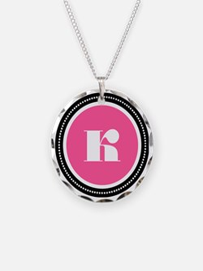 Pink K Monogram Necklace