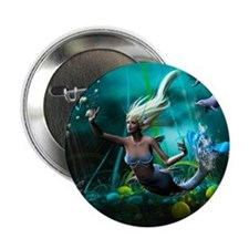 "Best Seller Merrow Mermaid 2.25"" Button"