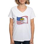 Bald Eagle Women's V-Neck T-Shirt