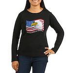 Bald Eagle Women's Long Sleeve Dark T-Shirt