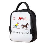 I Love Horse Power Neoprene Lunch Bag
