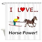 I Love Horse Power Shower Curtain