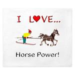 I Love Horse Power King Duvet