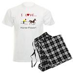 I Love Horse Power Men's Light Pajamas
