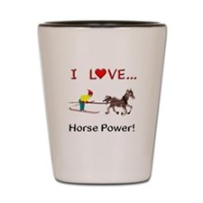 I Love Horse Power Shot Glass