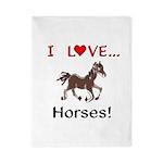 I Love Horses Twin Duvet