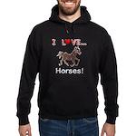 I Love Horses Hoodie (dark)