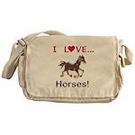 I Love Horses Messenger Bag