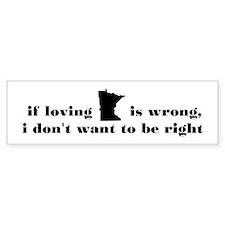 Loving Minnesota Bumper Sticker
