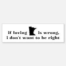 Loving Minnesota Sticker (Bumper)