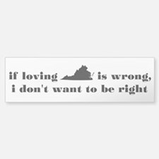 Loving Virginia Bumper Bumper Bumper Sticker
