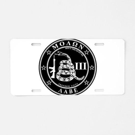Cool Molon labe Aluminum License Plate