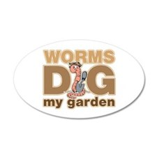 Worms Dig My Garden Wall Decal