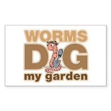 Worms Dig My Garden Decal