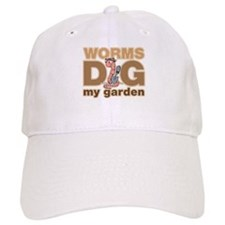 Worms Dig My Garden Baseball Cap