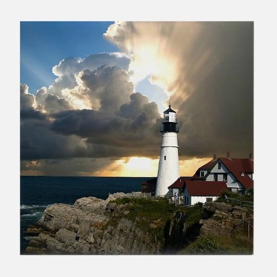 Lighthouse Beacon Tile Coaster