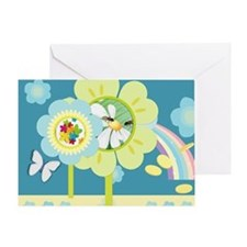 Busy garden flowers Greeting Card