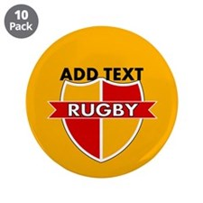 """Rugby Crest Red Gold gldpz 3.5"""" Button (10 pack)"""