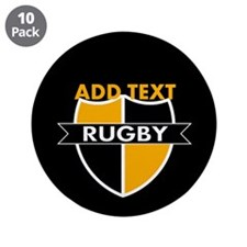 """Rugby Crest Black Gold blkpz 3.5"""" Button (10 pack)"""