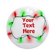 Custom Christmas Lights Ornament (Round)