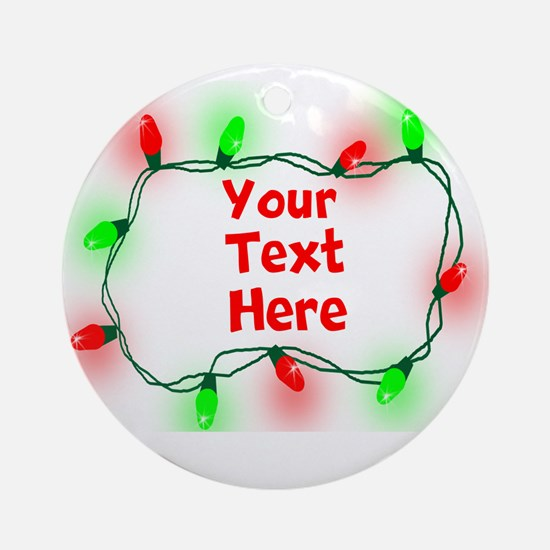 Custom Christmas Lights Ornament (Round)