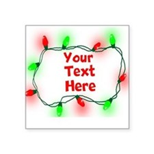 Custom Christmas Lights Sticker