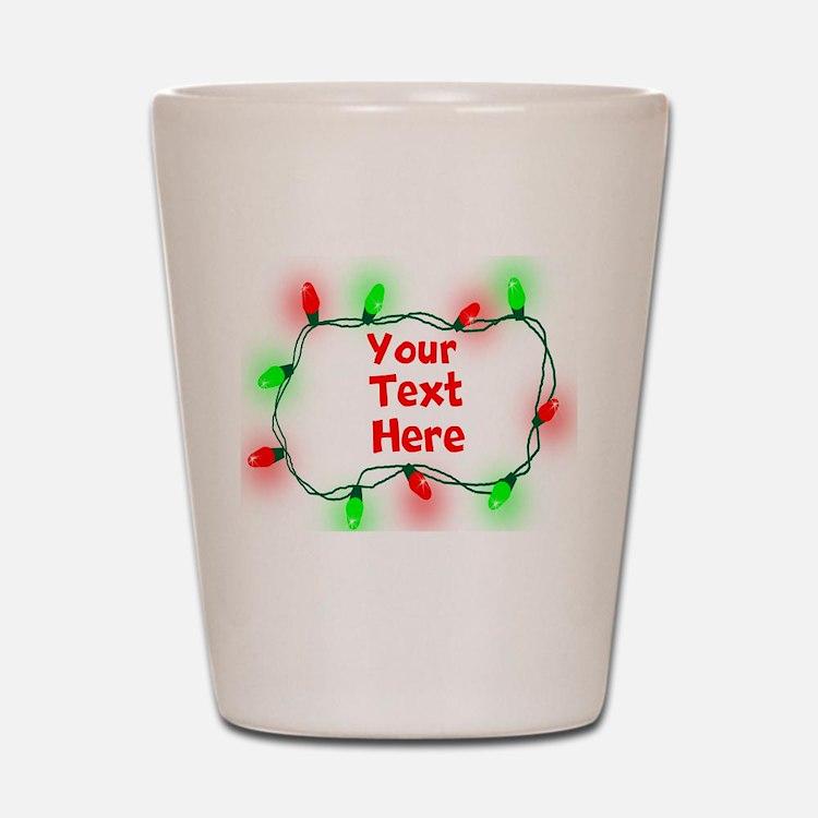 Custom Christmas Lights Shot Glass