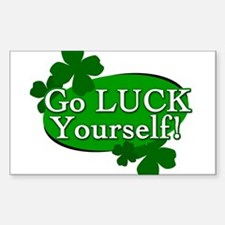 Go Luck Yourself 2 Rectangle Decal