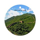 Great wall of china Round Ornaments
