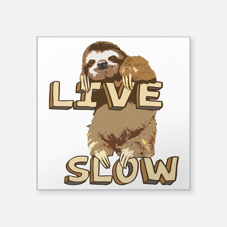 Funny Sloth - LIVE SLOW Sticker