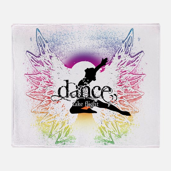 Dance Take Flight the Colors Throw Blanket
