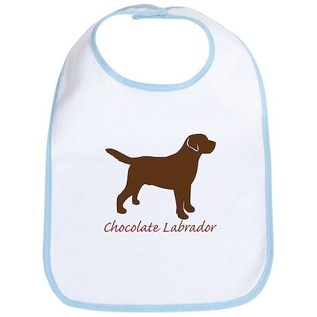 Chocolate Labrador Bib