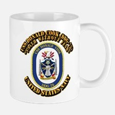 USS Donald Cook (DDG-75) with Text Mug