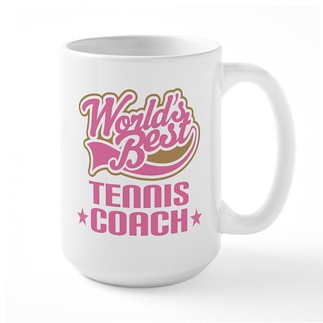 Tennis Coach vintage Large Mug
