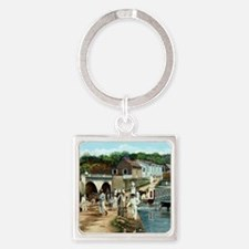 Coleccion El Parterre Antiguo.Agua Square Keychain