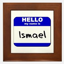 hello my name is ismael  Framed Tile