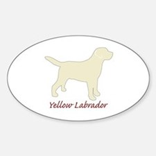 Yellow Labrador Oval Decal