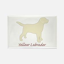 Yellow Labrador Rectangle Magnet