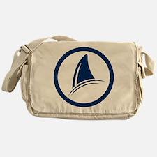 Shark Fin Logo Messenger Bag