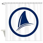 Shark Fin Logo Shower Curtain