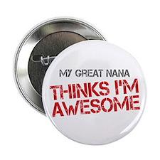 "Great Nana Awesome 2.25"" Button"