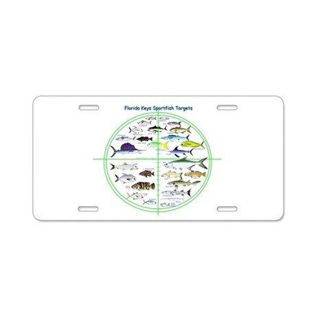 Florida keys fish targets aluminum license plate by for Florida 3 day fishing license